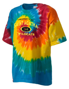 Saint Agatha Catholic School Wildcats Kid's Tie-Dye T-Shirt