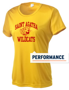 Saint Agatha Catholic School Wildcats Women's Competitor Performance T-Shirt