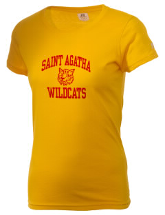 Saint Agatha Catholic School Wildcats  Russell Women's Campus T-Shirt