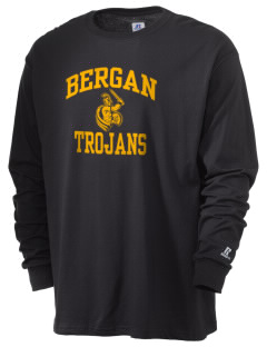 Bergan High School Trojans  Russell Men's Long Sleeve T-Shirt