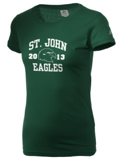 Saint John Lutheran School Eagles  Russell Women's Campus T-Shirt