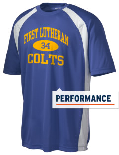 First Lutheran School Colts Men's Dry Zone Colorblock T-Shirt