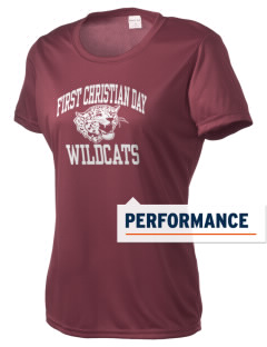 First Christian Day School Wildcats Women's Competitor Performance T-Shirt