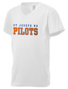 Saint Joseph Notre Dame High School Pilots Kid's V-Neck Jersey T-Shirt