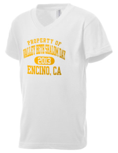 Valley Beth Shalom Day School Encino, CA Kid's V-Neck Jersey T-Shirt