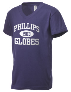 Phillips Academy Globes Kid's V-Neck Jersey T-Shirt