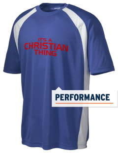 Christian Senior High School Patriots Men's Dry Zone Colorblock T-Shirt