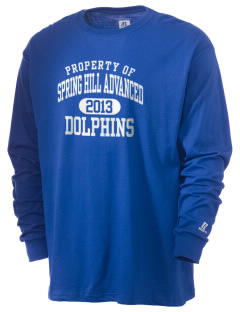 Spring Hill Advanced Elementary School Dolphins  Russell Men's Long Sleeve T-Shirt