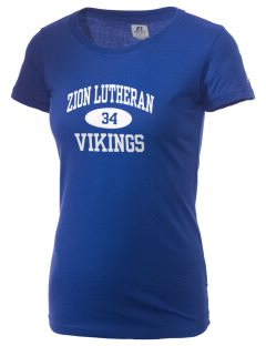 Zion Lutheran School Vikings  Russell Women's Campus T-Shirt