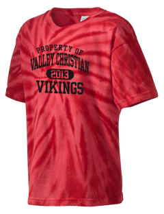 Valley Christian High School Vikings Kid's Tie-Dye T-Shirt
