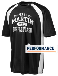 Martin High School Purple Flash Men's Dry Zone Colorblock T-Shirt