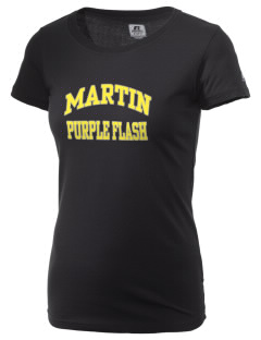 Martin High School Purple Flash  Russell Women's Campus T-Shirt