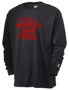 Manley High Wildcats  Russell Men's Long Sleeve T-Shirt
