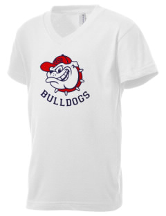 Assumption - St. Bridget Bulldogs Kid's V-Neck Jersey T-Shirt