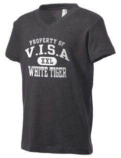 V.I.S.A White Tiger Kid's V-Neck Jersey T-Shirt