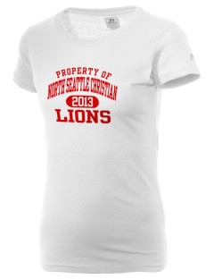 North Seattle Christian School Lions  Russell Women's Campus T-Shirt
