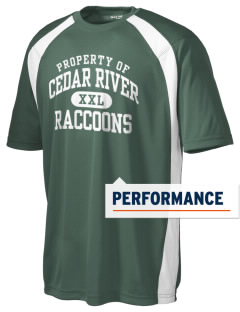Cedar River School Raccoons Men's Dry Zone Colorblock T-Shirt