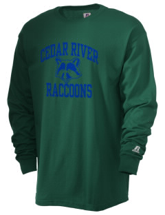 Cedar River School Raccoons  Russell Men's Long Sleeve T-Shirt