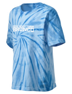 Middltown Middle School bronco Kid's Tie-Dye T-Shirt
