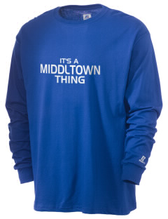 Middltown Middle School bronco  Russell Men's Long Sleeve T-Shirt