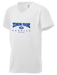 Zenon Park School  Kid's V-Neck Jersey T-Shirt