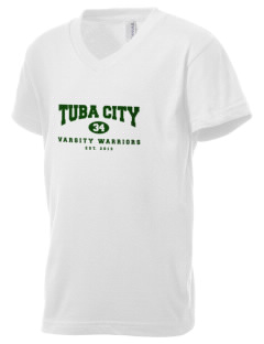 Tuba City High School Warriors Kid's V-Neck Jersey T-Shirt