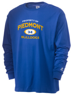 Piedmont High School Bulldogs  Russell Men's Long Sleeve T-Shirt