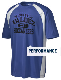 Valdez High School Buccaneers Men's Dry Zone Colorblock T-Shirt