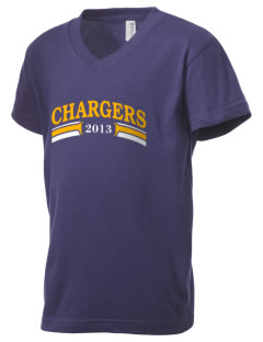 Chattanooga Christian School Chargers Kid's V-Neck Jersey T-Shirt