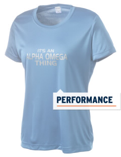 Alpha Omega Academy We don't have one.  We have a logo Women's Competitor Performance T-Shirt