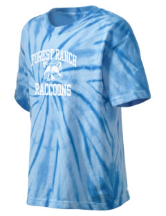 Forest Ranch Elementary School Raccoons Kid's Tie-Dye T-Shirt
