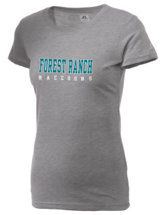 Forest Ranch Elementary School Raccoons  Russell Women's Campus T-Shirt