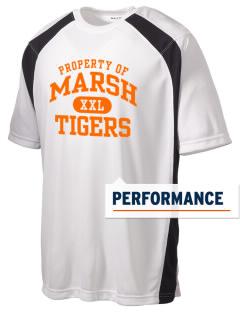 Marsh Elementary School Tigers Men's Dry Zone Colorblock T-Shirt