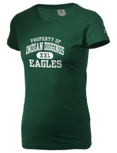 Indian Diggings Elementary School Eagles  Russell Women's Campus T-Shirt