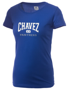 Chavez Elementary School Panthers  Russell Women's Campus T-Shirt