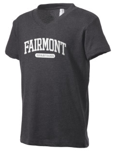 Fairmont Elementary School Spartans Kid's V-Neck Jersey T-Shirt