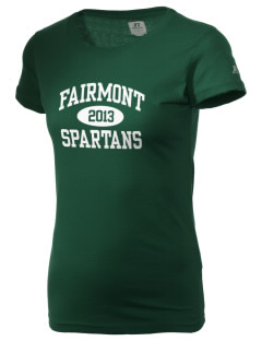 Fairmont Elementary School Spartans  Russell Women's Campus T-Shirt