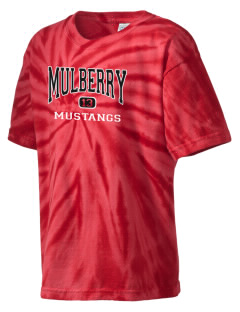 Mulberry Elementary School Mustangs Kid's Tie-Dye T-Shirt