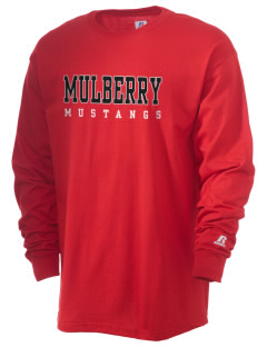 Mulberry Elementary School Mustangs  Russell Men's Long Sleeve T-Shirt