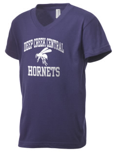 Deep Creek Central Elementary School Hornets Kid's V-Neck Jersey T-Shirt