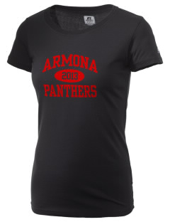 Armona Elementary School Panthers  Russell Women's Campus T-Shirt