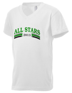 Clover Valley High School All Stars Kid's V-Neck Jersey T-Shirt