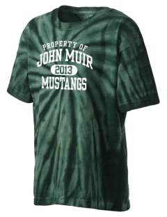 John Muir Middle School Mustangs Kid's Tie-Dye T-Shirt