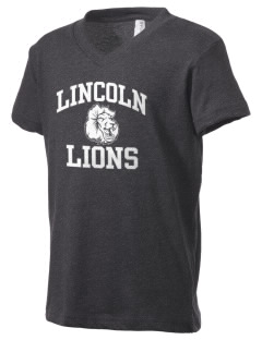 Lincoln Elementary School Lions Kid's V-Neck Jersey T-Shirt