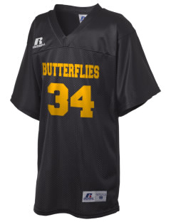 Mariposa Elementary School Butterflies Russell Kid's Replica Football Jersey