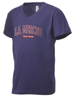 La Merced Elementary School Teddy Bears Kid's V-Neck Jersey T-Shirt