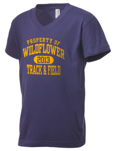 Wildflower Elementary School Wildcats Kid's V-Neck Jersey T-Shirt