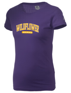 Wildflower Elementary School Wildcats  Russell Women's Campus T-Shirt