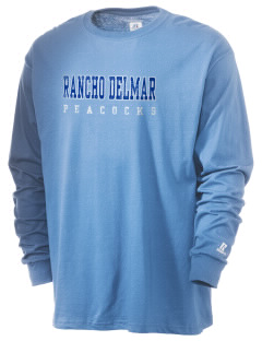Rancho Delmar High School Peacocks  Russell Men's Long Sleeve T-Shirt