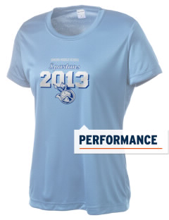 Simons Middle School Spartans Women's Competitor Performance T-Shirt